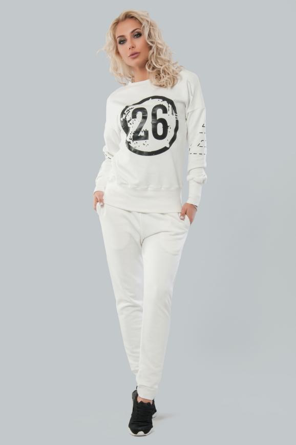 Домашний костюм белого цвета |интернет-магазин vvlen.com