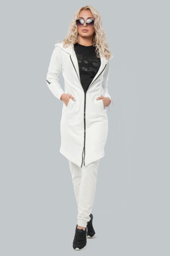 Кардиган стильный белого цвета 010|интернет-магазин vvlen.com