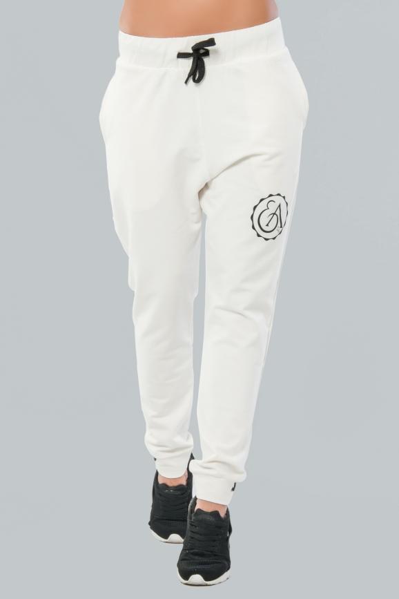 Спортивные штаны молочного цвета 026|интернет-магазин vvlen.com