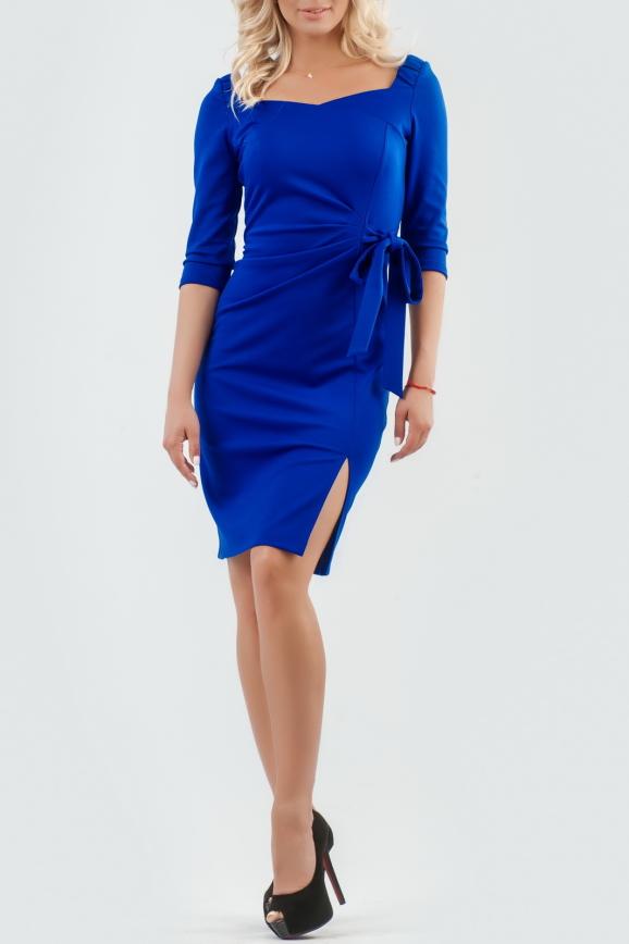 Коктейльное платье футляр электрика цвета 2582.47|интернет-магазин vvlen.com