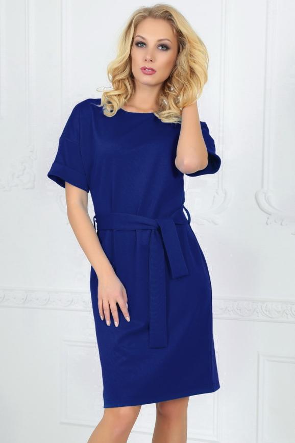 Повседневное платье футляр электрика цвета 2510.47|интернет-магазин vvlen.com