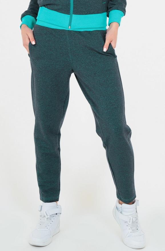 Спортивные брюки зеленого цвета 154|интернет-магазин vvlen.com