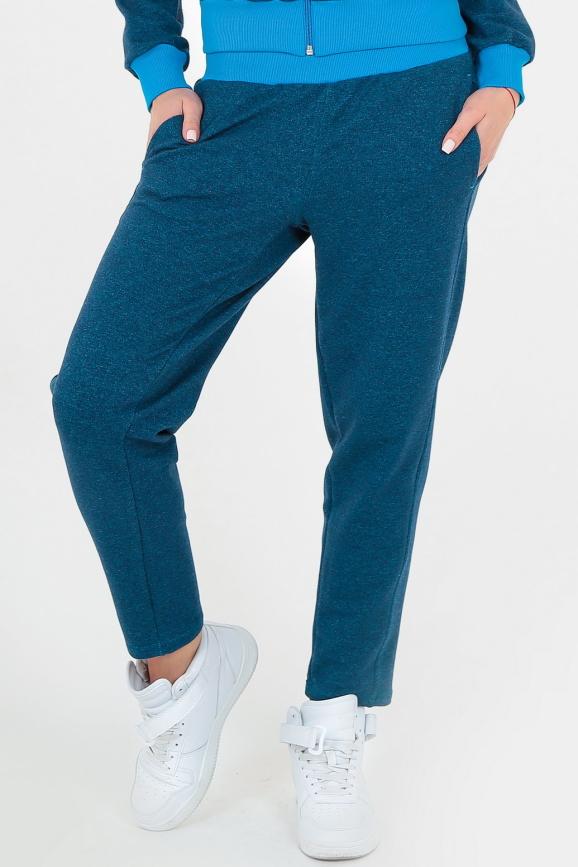 Спортивные штаны синего цвета 154|интернет-магазин vvlen.com
