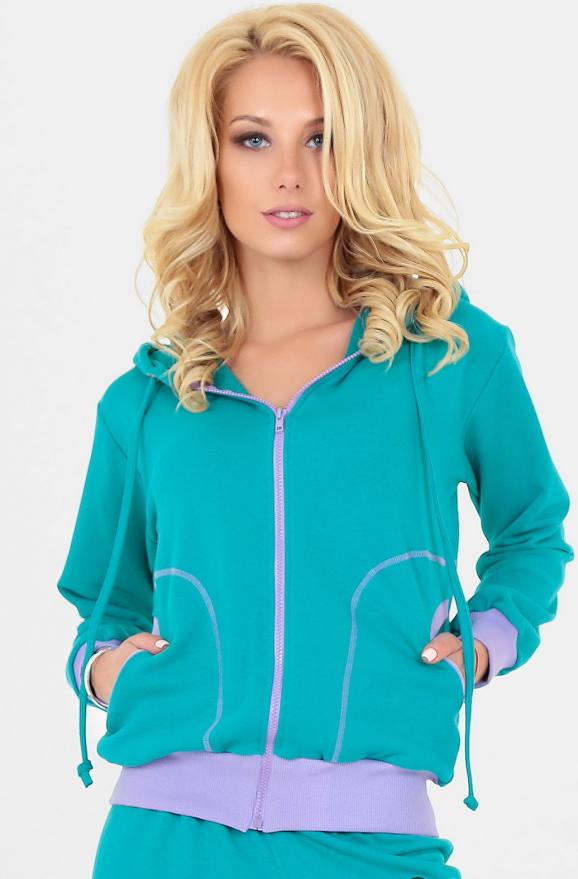 Спортивная кофта мятного цвета 158|интернет-магазин vvlen.com