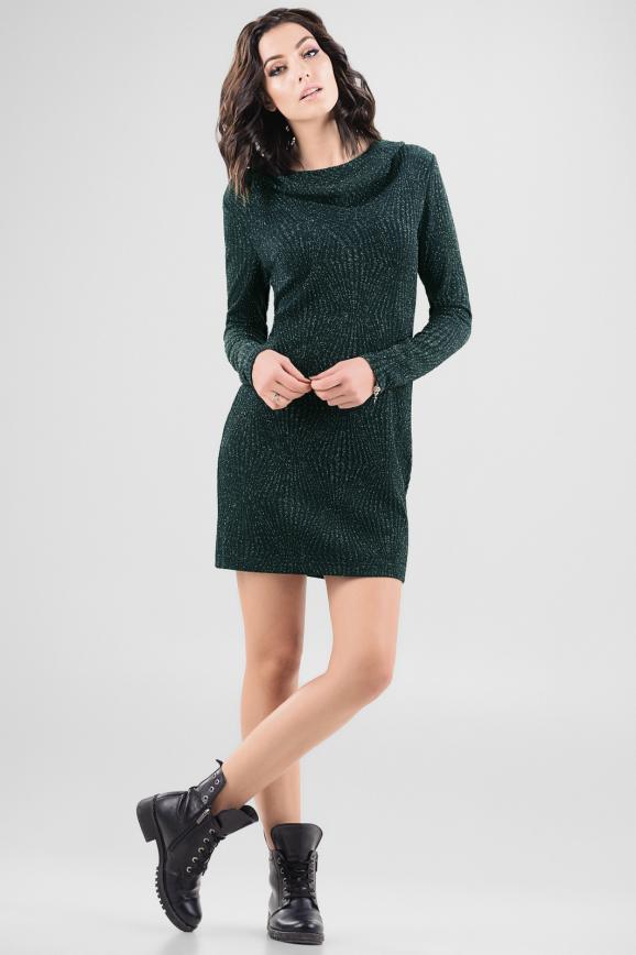 Спортивное платье  темно-зеленого цвета 2648.98|интернет-магазин vvlen.com