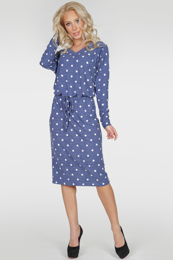 Повседневное платье  мешок джинса цвета 2478-2.31|интернет-магазин vvlen.com