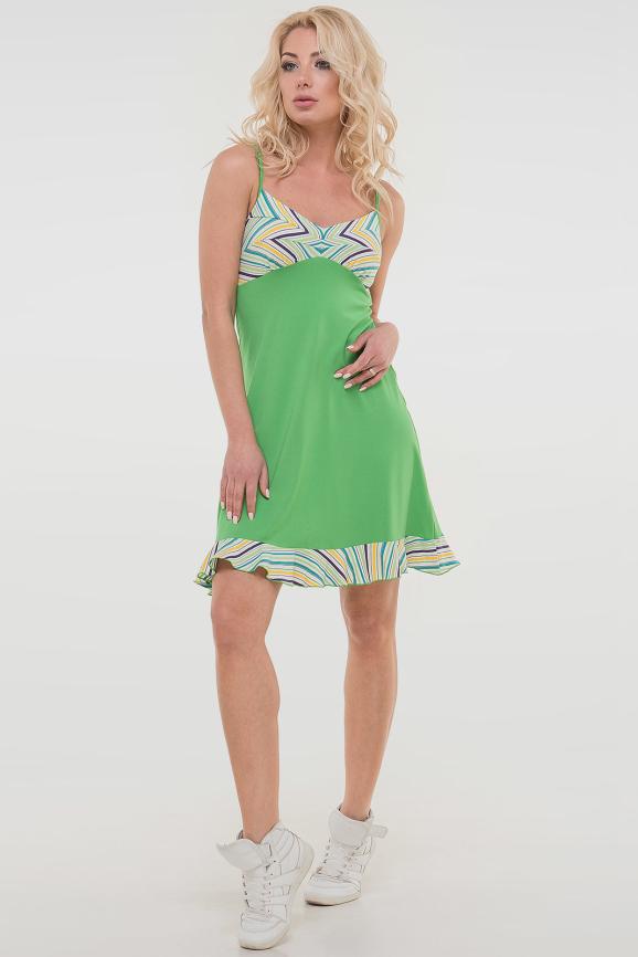 Летнее платье-комбинация лайма цвета 1497.17|интернет-магазин vvlen.com