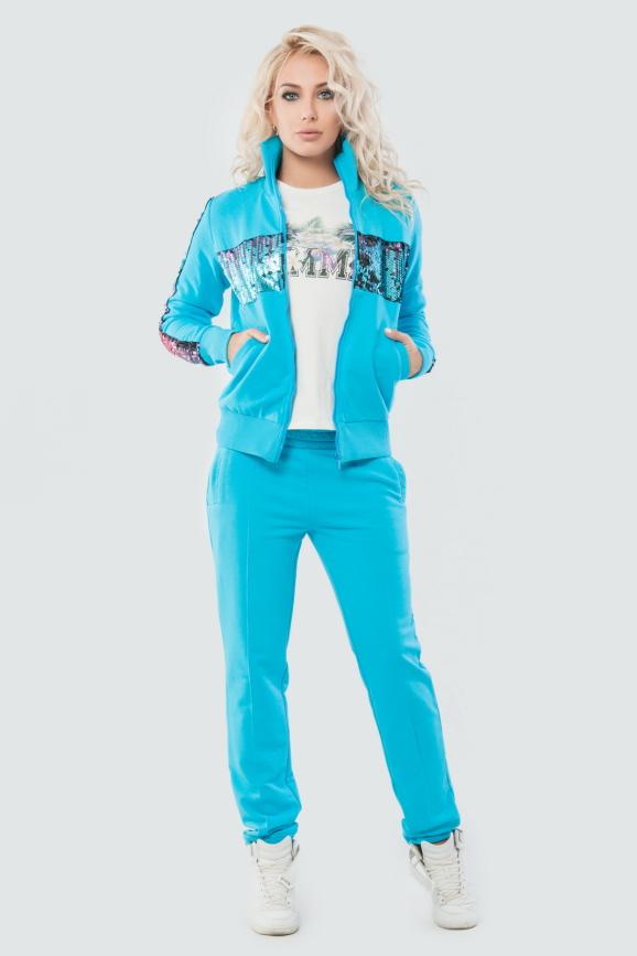 Домашний костюм голубого цвета 063|интернет-магазин vvlen.com