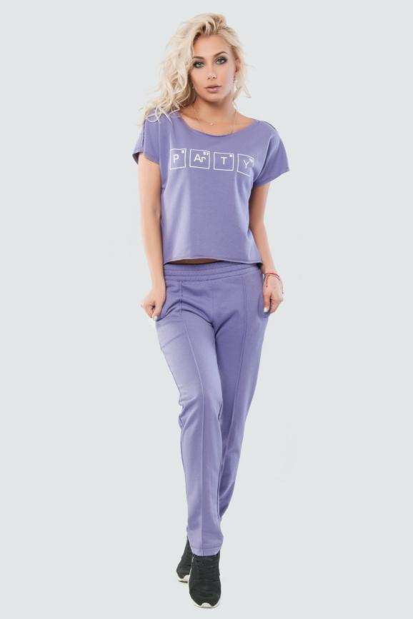 Домашний костюм фиолетового цвета 017 интернет-магазин vvlen.com