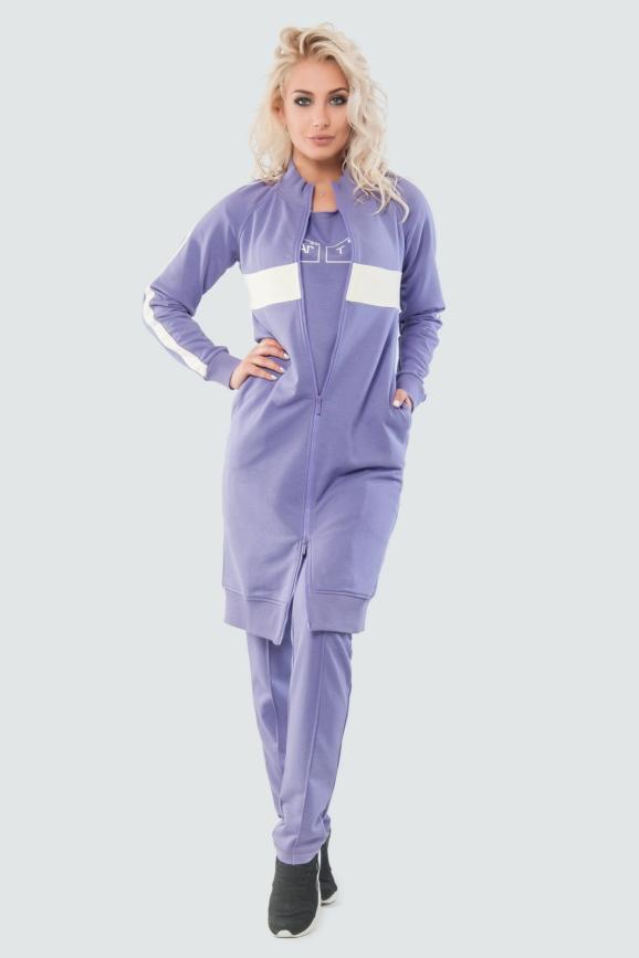 Кардиган стильный фиолетового цвета 062|интернет-магазин vvlen.com