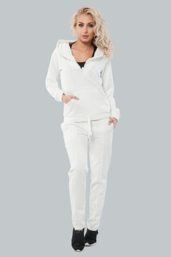 Домашний костюм белого цвета 019|интернет-магазин vvlen.com