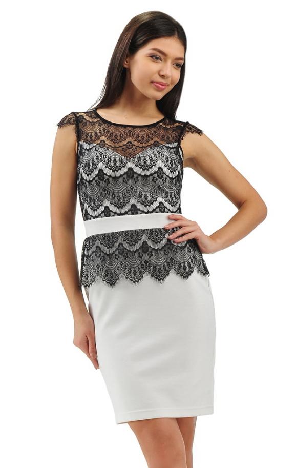 Коктейльное платье футляр черного цвета 2193.41|интернет-магазин vvlen.com