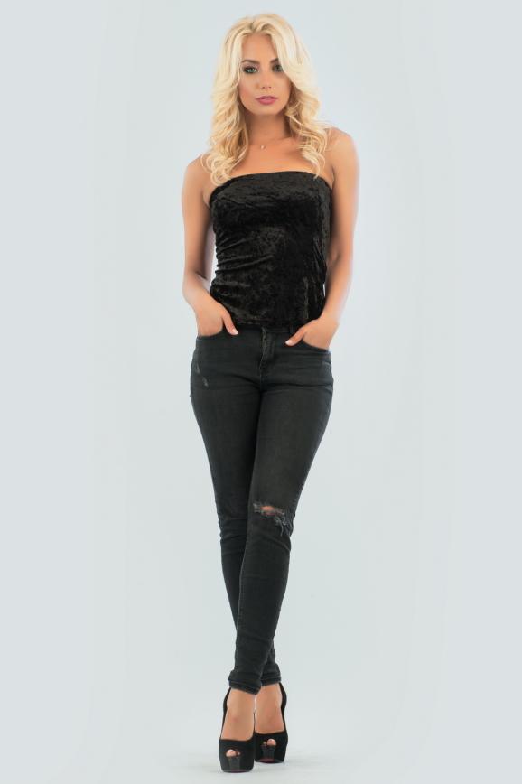 Майка женская черного цвета 1017.22|интернет-магазин vvlen.com