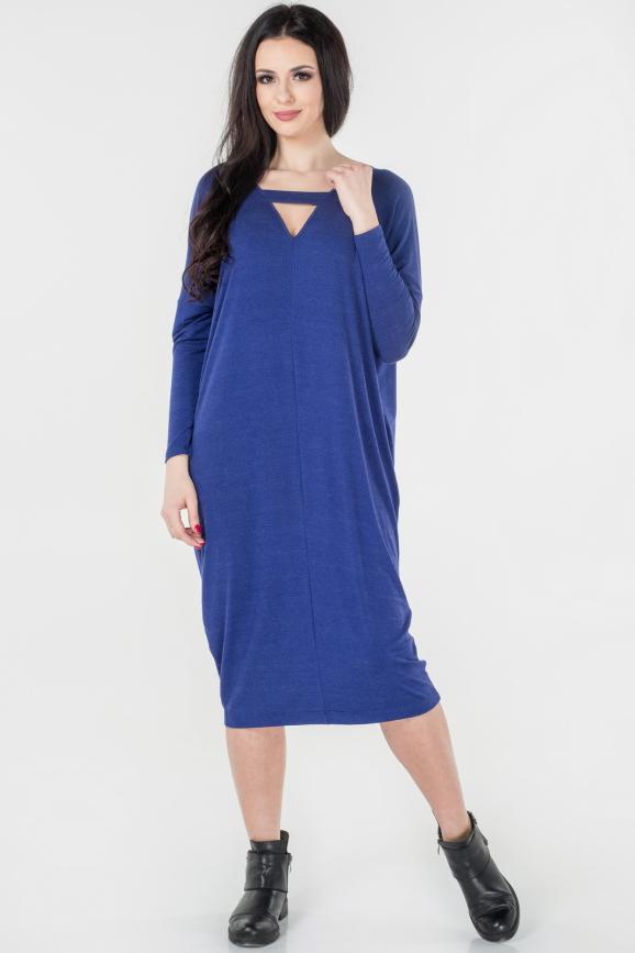 Платье оверсайз василькового цвета интернет-магазин vvlen.com