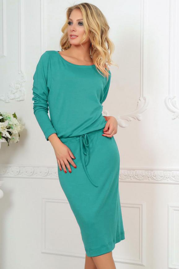 Повседневное платье футляр мятного цвета 2478.65|интернет-магазин vvlen.com