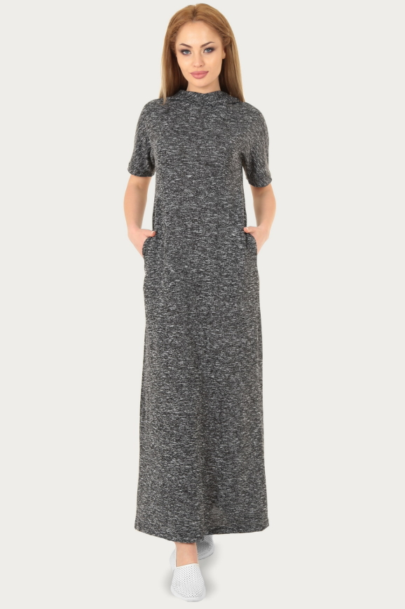 Спортивное платье  черного цвета 214br|интернет-магазин vvlen.com
