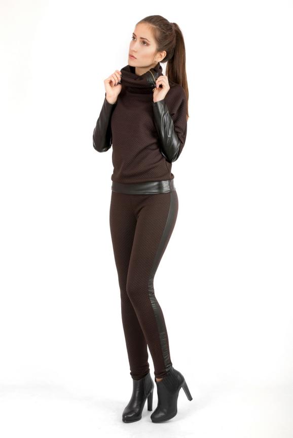 Женские лосины коричневого цвета 2204.75|интернет-магазин vvlen.com
