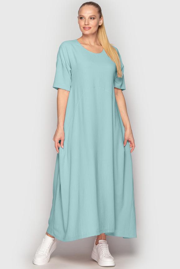 Платье оверсайз мятного цвета 2858-2.116|интернет-магазин vvlen.com