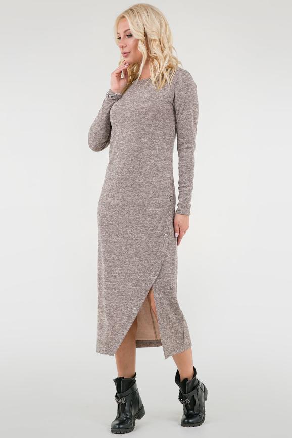 Повседневное спортивное платье бежевого цвета 2741.96|интернет-магазин vvlen.com
