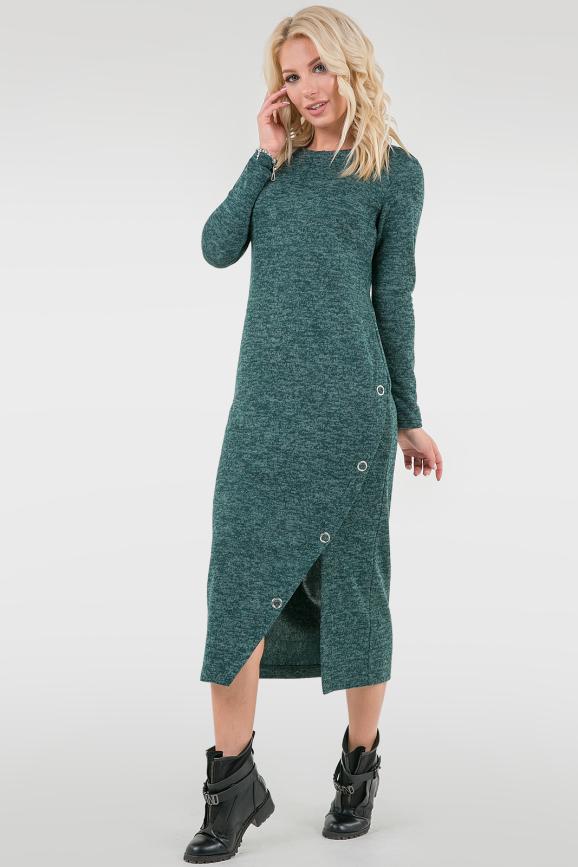 Повседневное спортивное платье зеленого цвета 2741.96|интернет-магазин vvlen.com