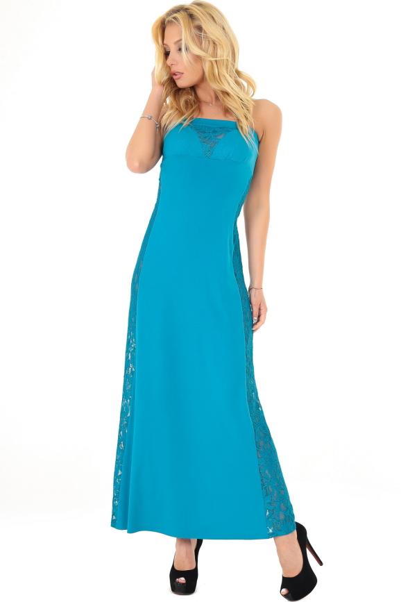 Вечернее платье с открытыми плечами морской волны цвета|интернет-магазин vvlen.com