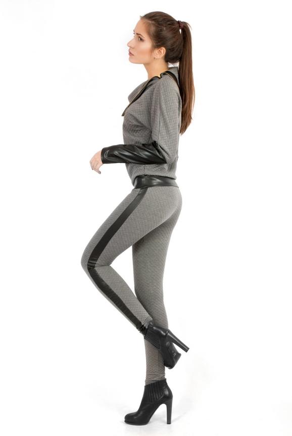 Женские лосины серого цвета 2204.75 интернет-магазин vvlen.com
