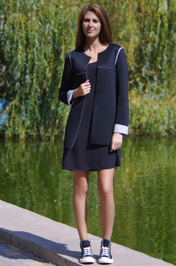 Жакет женский черного цвета 2229.63|интернет-магазин vvlen.com