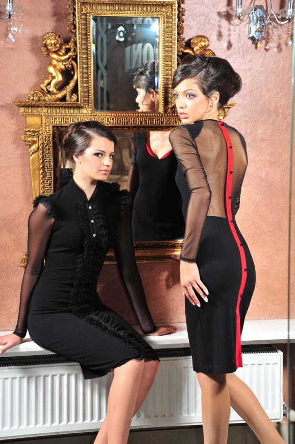Коктейльное платье футляр черного цвета 1197.47|интернет-магазин vvlen.com