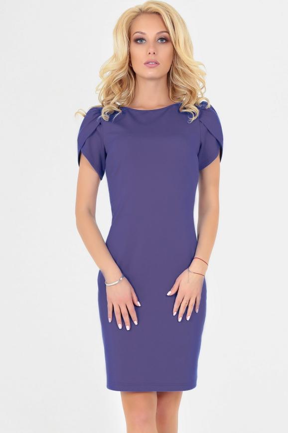 Летнее платье футляр сиреневого цвета|интернет-магазин vvlen.com