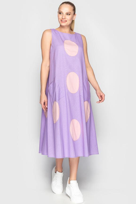 Летнее платье трапеция розового цвета 760|интернет-магазин vvlen.com