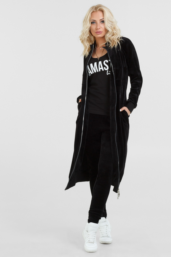Кардиган стильный черного цвета |интернет-магазин vvlen.com