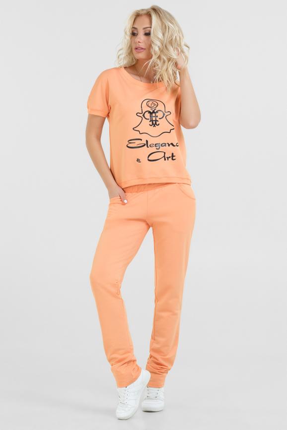 Спортивный костюм персикового цвета |интернет-магазин vvlen.com