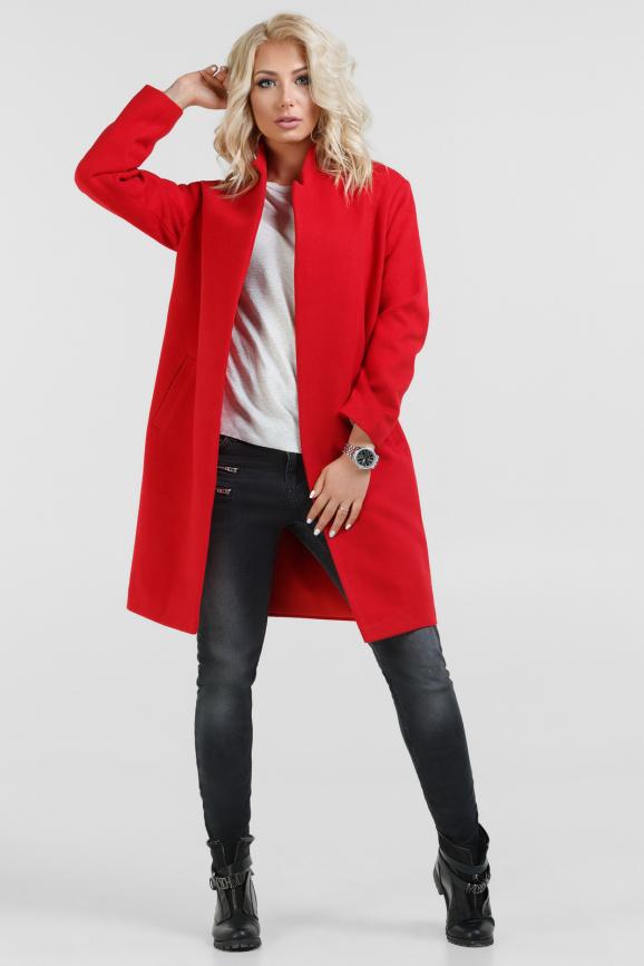 Пальто красного цвета 073|интернет-магазин vvlen.com