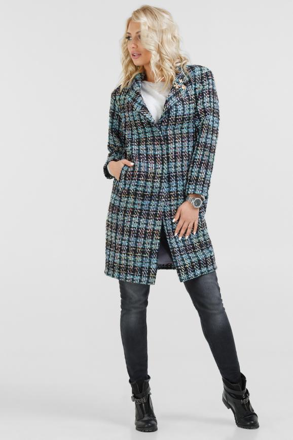 Пальто сиреневого с голубым цвета 073|интернет-магазин vvlen.com