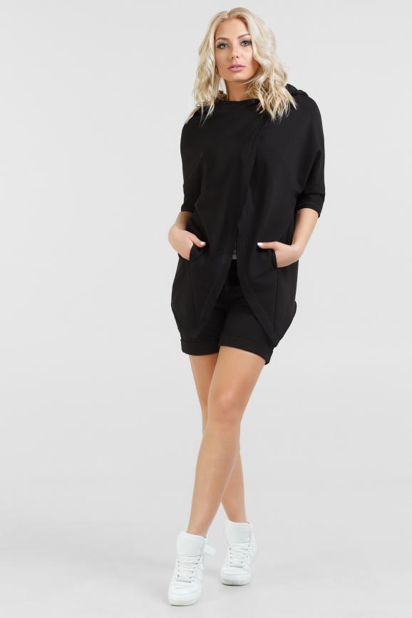 Спортивный костюм черного цвета 053|интернет-магазин vvlen.com