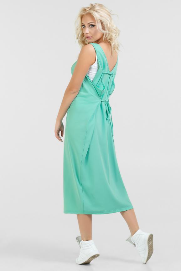 Спортивное платье  бирюзового цвета 052 интернет-магазин vvlen.com