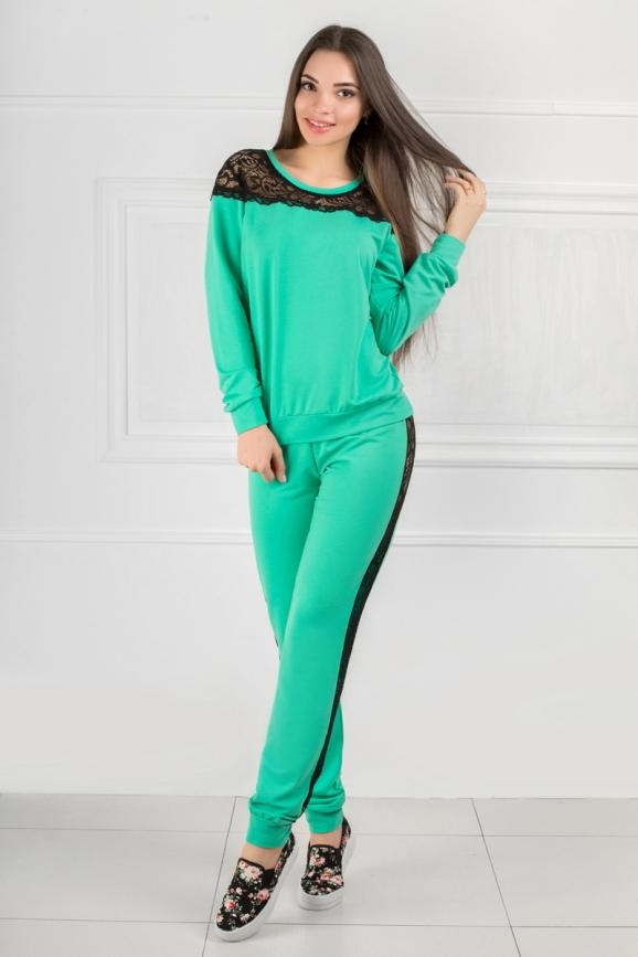 Домашний костюм мятного цвета 2307.79|интернет-магазин vvlen.com