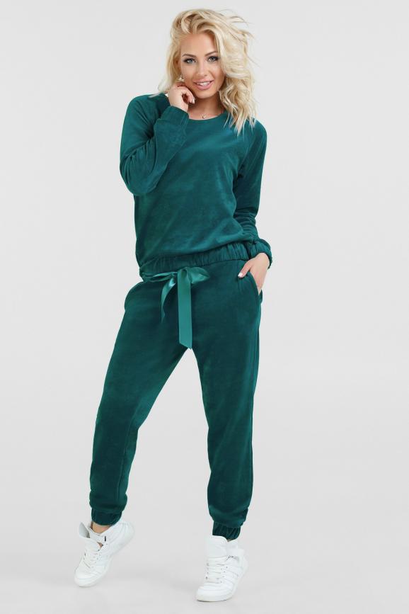 Спортивный костюм изумрудного цвета 2474.26|интернет-магазин vvlen.com