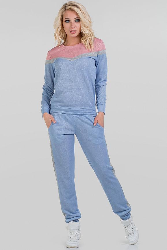 Домашний костюм голубого цвета 2693.79|интернет-магазин vvlen.com