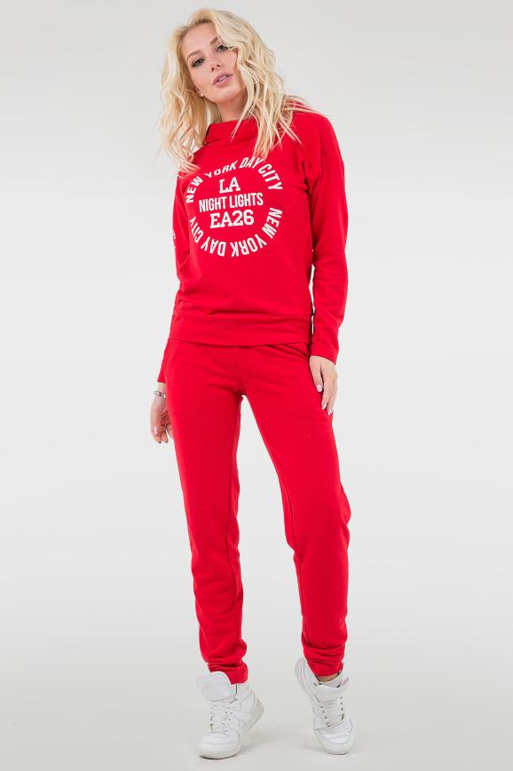 Прогулочный костюм красного цвета 055|интернет-магазин vvlen.com