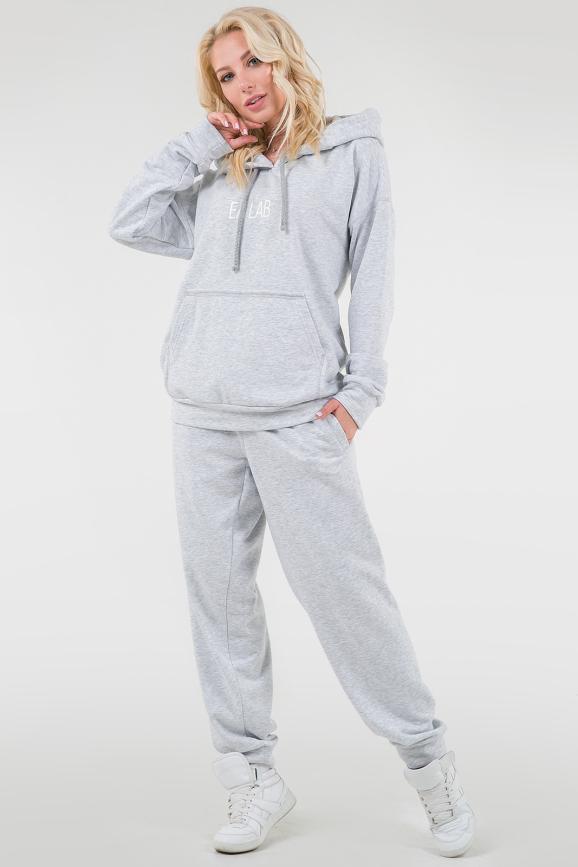 Домашний костюм светло-серого цвета 081|интернет-магазин vvlen.com