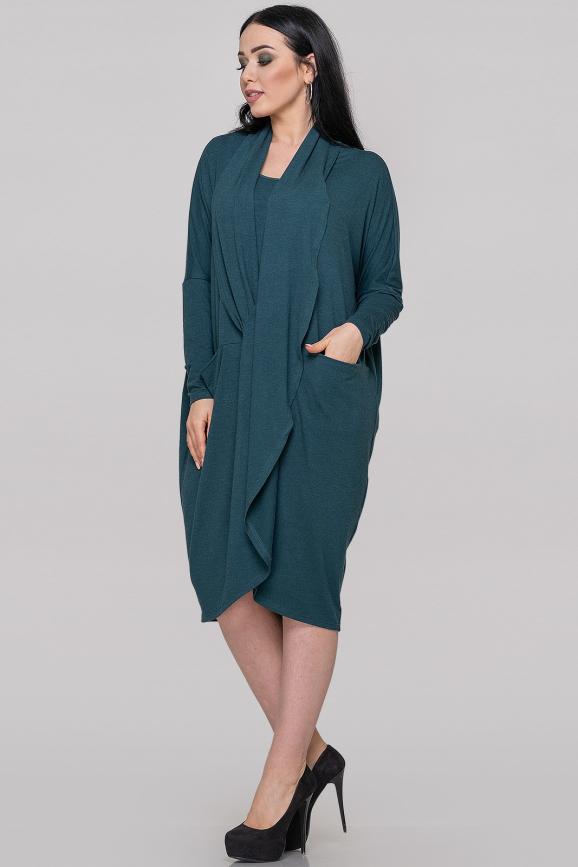 Платье оверсайз зеленого цвета 2820.17|интернет-магазин vvlen.com