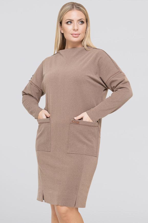 Платье  мешок капучино цвета 2938.136|интернет-магазин vvlen.com
