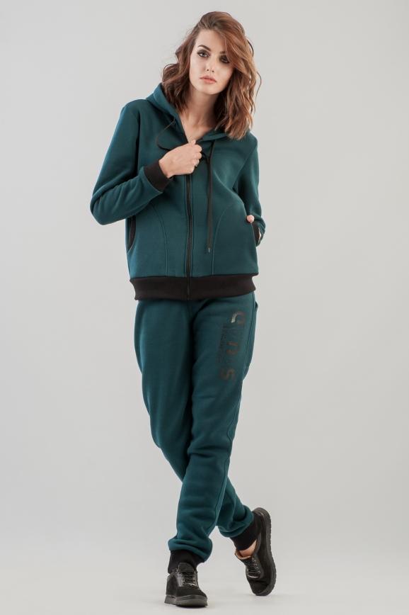 Домашний костюм темно-зеленого цвета 158-159 интернет-магазин vvlen.com