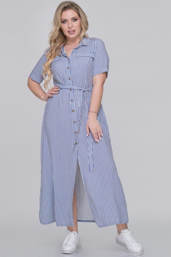 Летнее платье рубашка полоски джинс цвета интернет-магазин vvlen.com