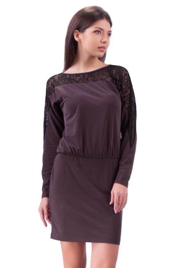 Повседневное платье футляр фиолетового цвета 2117.56|интернет-магазин vvlen.com