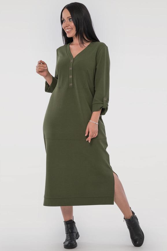 Платье футляр хаки цвета 2786.1|интернет-магазин vvlen.com