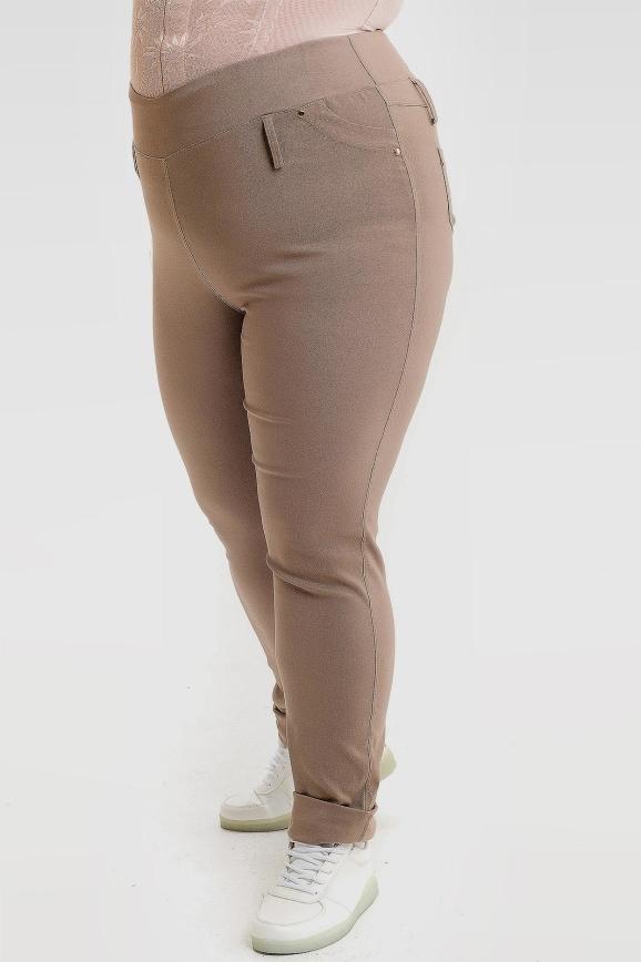Штаны бежевого цвета 1023а-2|интернет-магазин vvlen.com