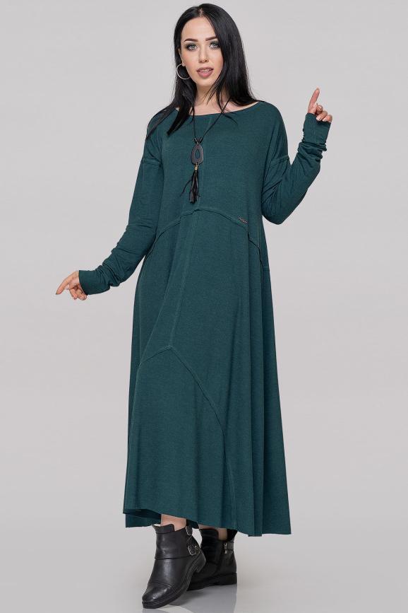 Платье оверсайз зеленого цвета 2496.17|интернет-магазин vvlen.com