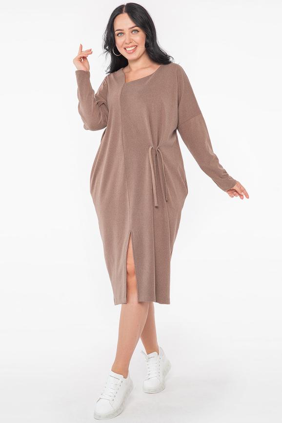 Платье оверсайз капучино цвета 2955.136 |интернет-магазин vvlen.com